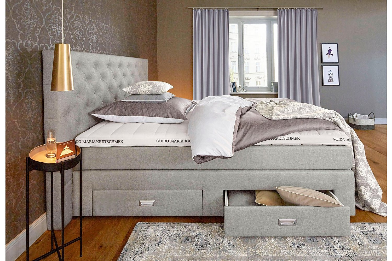 gmk home living boxspringbett aivi alles was du. Black Bedroom Furniture Sets. Home Design Ideas